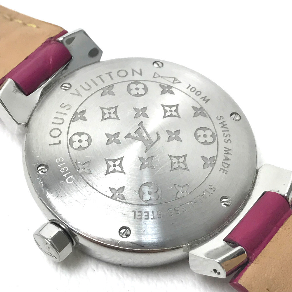LOUIS VUITTON ルイヴィトン Q1313 レディース 腕時計 タンブール ホログラム クォーツ 腕時計 SS レディース_画像6