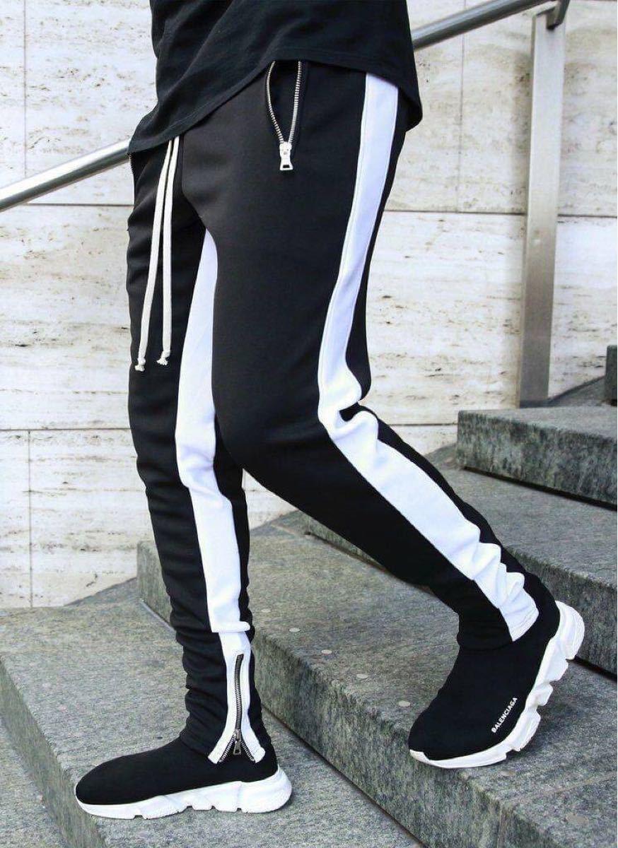 ジョガーパンツ メンズ XLサイズ ジャージ スキニーパンツ