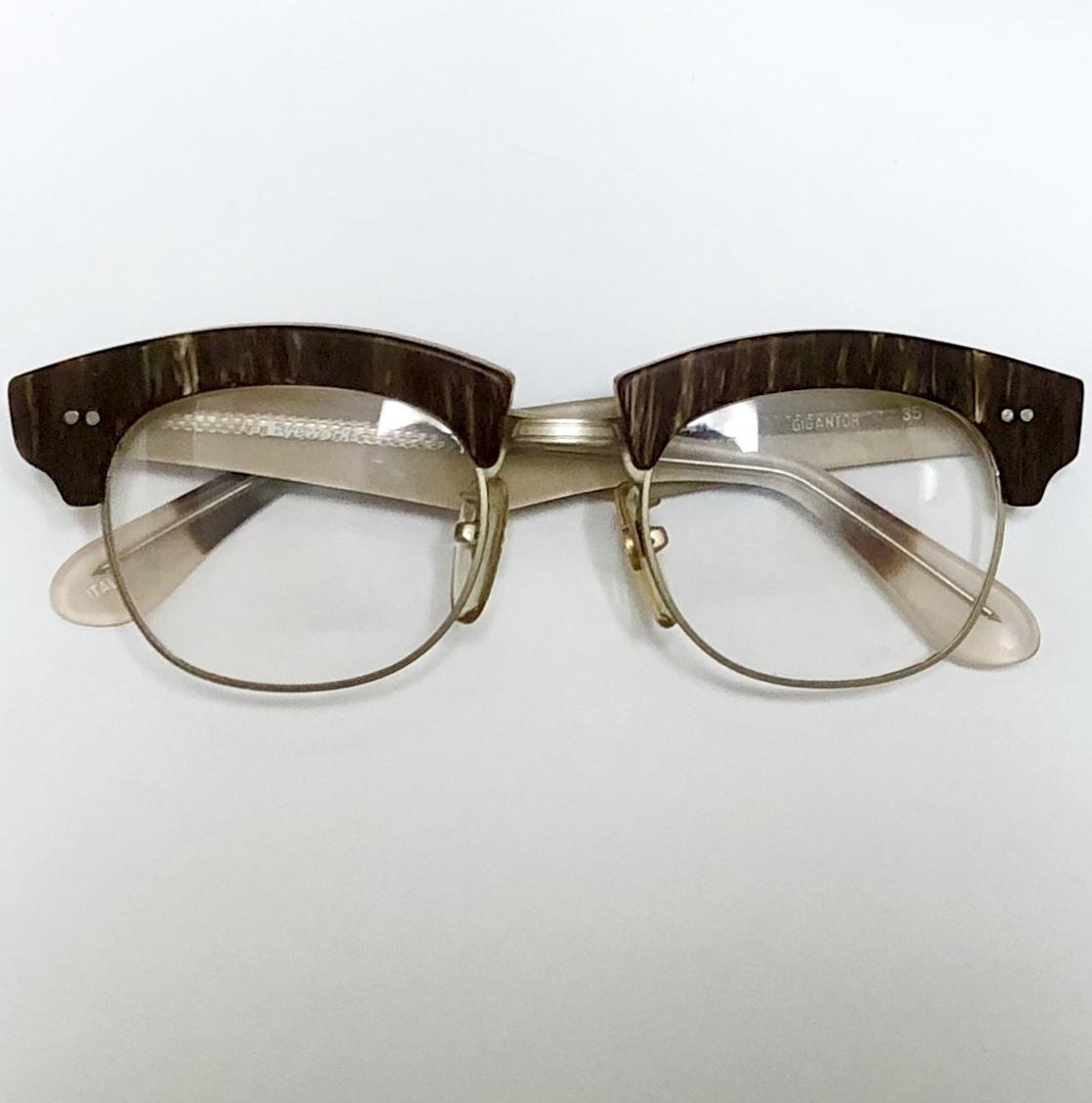 【ビンテージ・新品】1990年代 l.a. Eyeworks イタリア製 高級メガネ エルエーアイワークス ギガンター /ヴィンテージ 米国ブランド_画像9