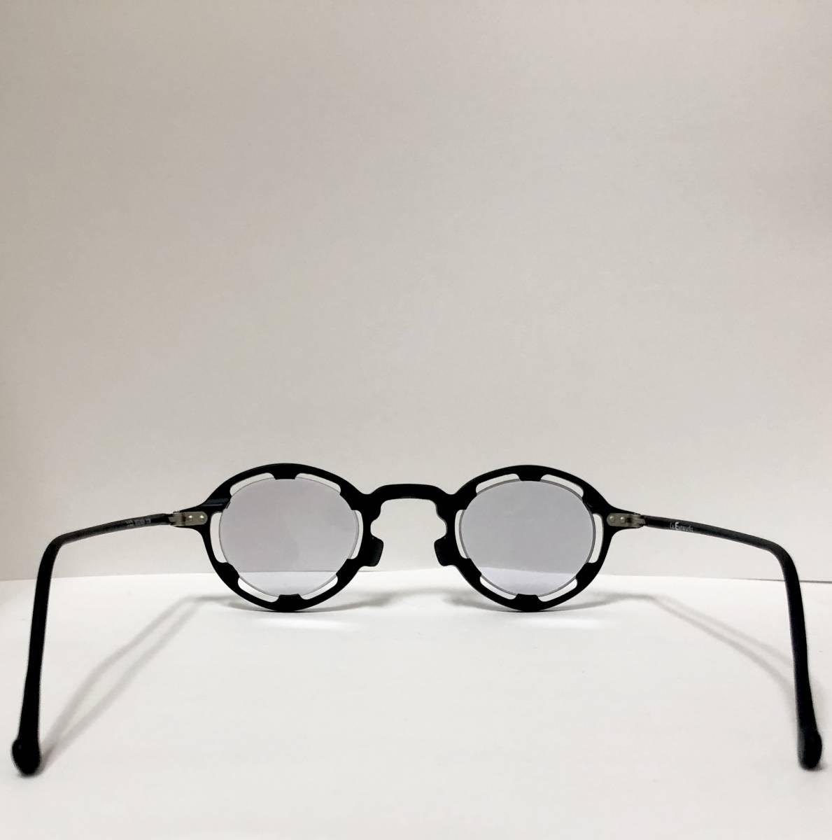 【ビンテージ・未使用】1990年代 l.a. Eyeworks イタリア製レグンバ 黒 高級メガネ エルエーアイワークス /ヴィンテージ 米国ブランド_画像7