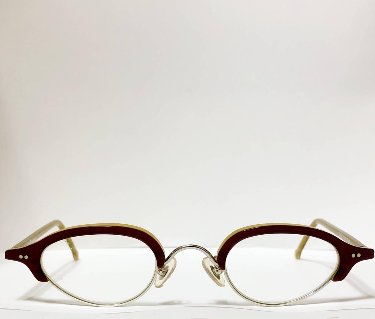 ビンテージ・新品】1990年代 l.a. Eyeworks イタリア製ティリー 茶色 高級メガネ エルエーアイワークス /ヴィンテージ 米国ブランド_画像1