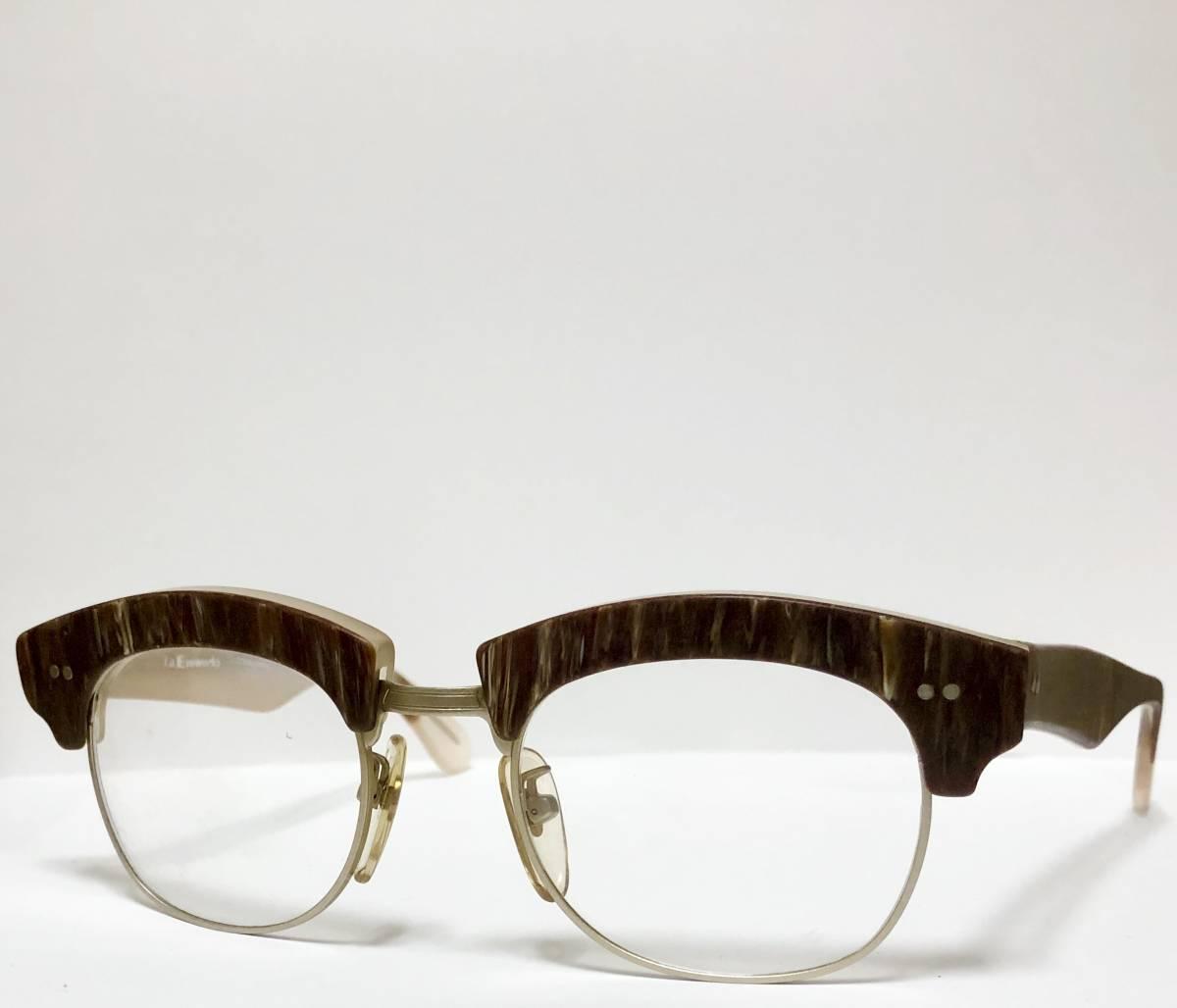 【ビンテージ・新品】1990年代 l.a. Eyeworks イタリア製 高級メガネ エルエーアイワークス ギガンター /ヴィンテージ 米国ブランド_画像2
