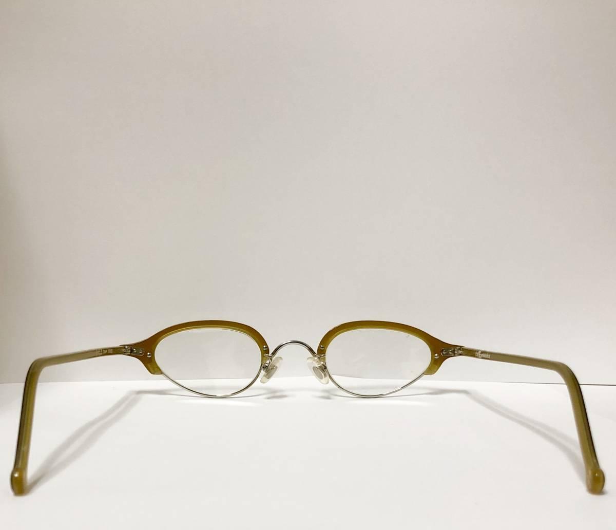 ビンテージ・新品】1990年代 l.a. Eyeworks イタリア製ティリー 茶色 高級メガネ エルエーアイワークス /ヴィンテージ 米国ブランド_画像7