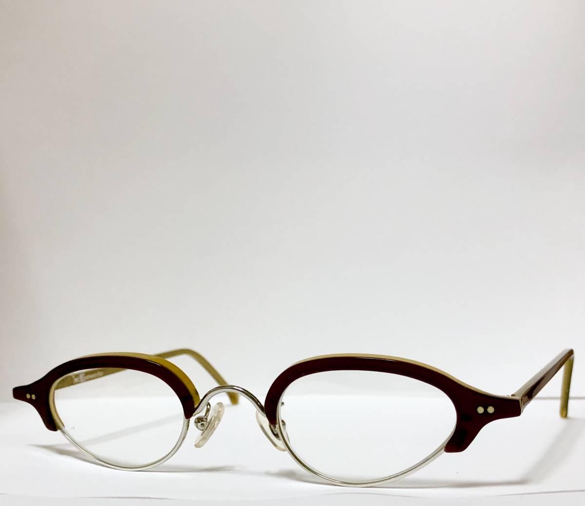 ビンテージ・新品】1990年代 l.a. Eyeworks イタリア製ティリー 茶色 高級メガネ エルエーアイワークス /ヴィンテージ 米国ブランド_画像2
