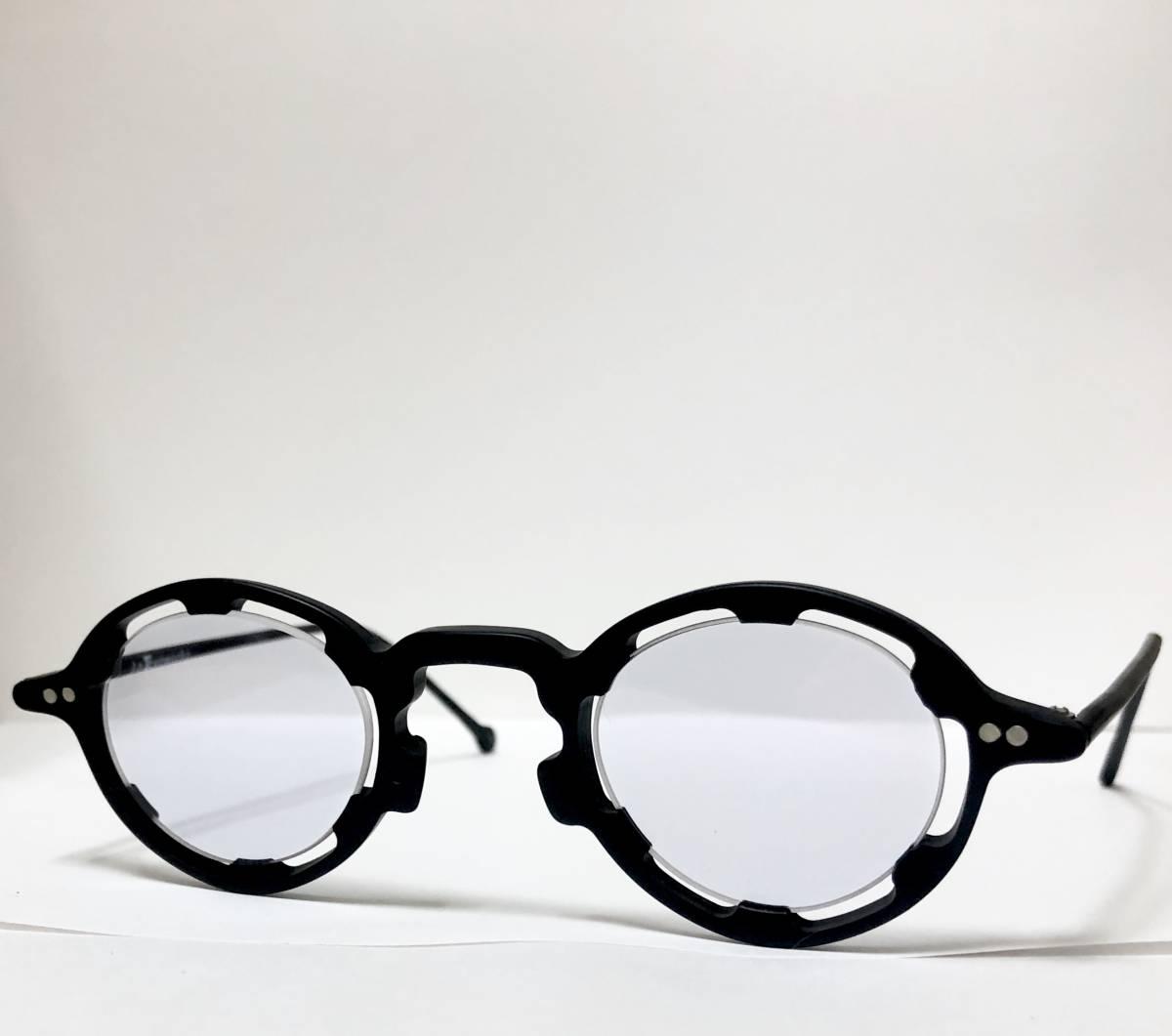 【ビンテージ・未使用】1990年代 l.a. Eyeworks イタリア製レグンバ 黒 高級メガネ エルエーアイワークス /ヴィンテージ 米国ブランド_画像2
