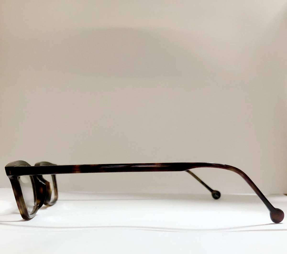 ビンテージ・未使用】1990年代 l.a. Eyeworks イタリア製 べっ甲色 高級メガネ エルエーアイワークス /ヴィンテージ 米国ブランド_画像5