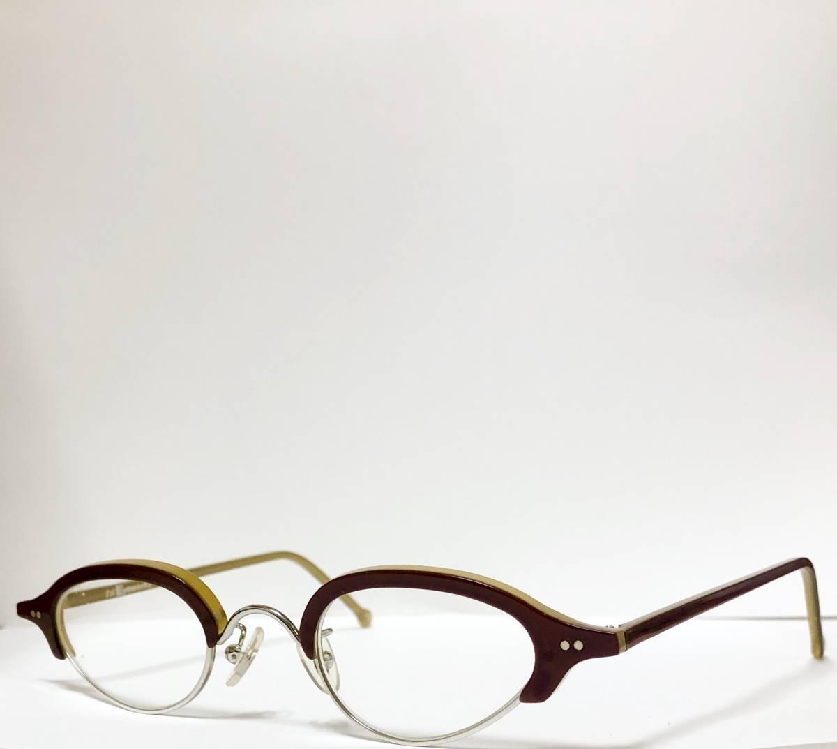 ビンテージ・新品】1990年代 l.a. Eyeworks イタリア製ティリー 茶色 高級メガネ エルエーアイワークス /ヴィンテージ 米国ブランド_画像3