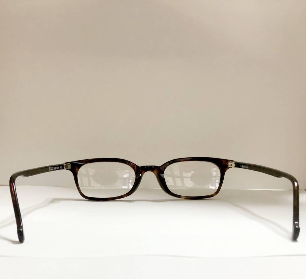 ビンテージ・未使用】1990年代 l.a. Eyeworks イタリア製 べっ甲色 高級メガネ エルエーアイワークス /ヴィンテージ 米国ブランド_画像8