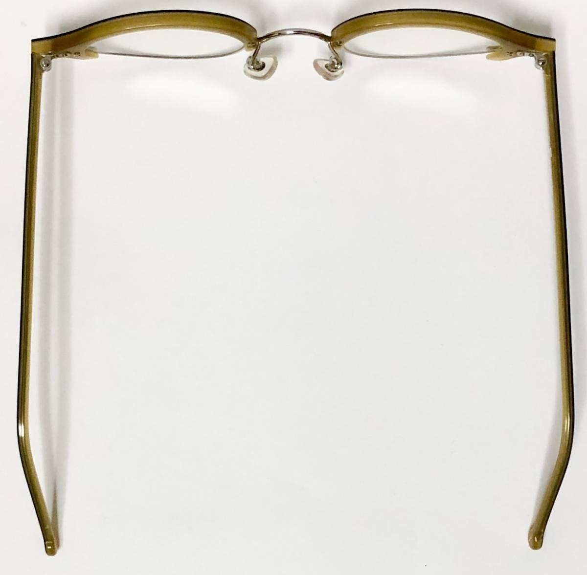 ビンテージ・新品】1990年代 l.a. Eyeworks イタリア製ティリー 茶色 高級メガネ エルエーアイワークス /ヴィンテージ 米国ブランド_画像8