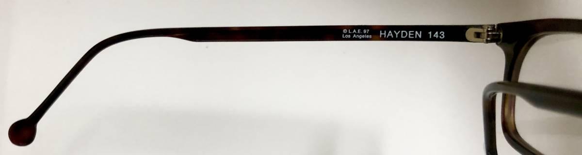 ビンテージ・未使用】1990年代 l.a. Eyeworks イタリア製 べっ甲色 高級メガネ エルエーアイワークス /ヴィンテージ 米国ブランド_画像6