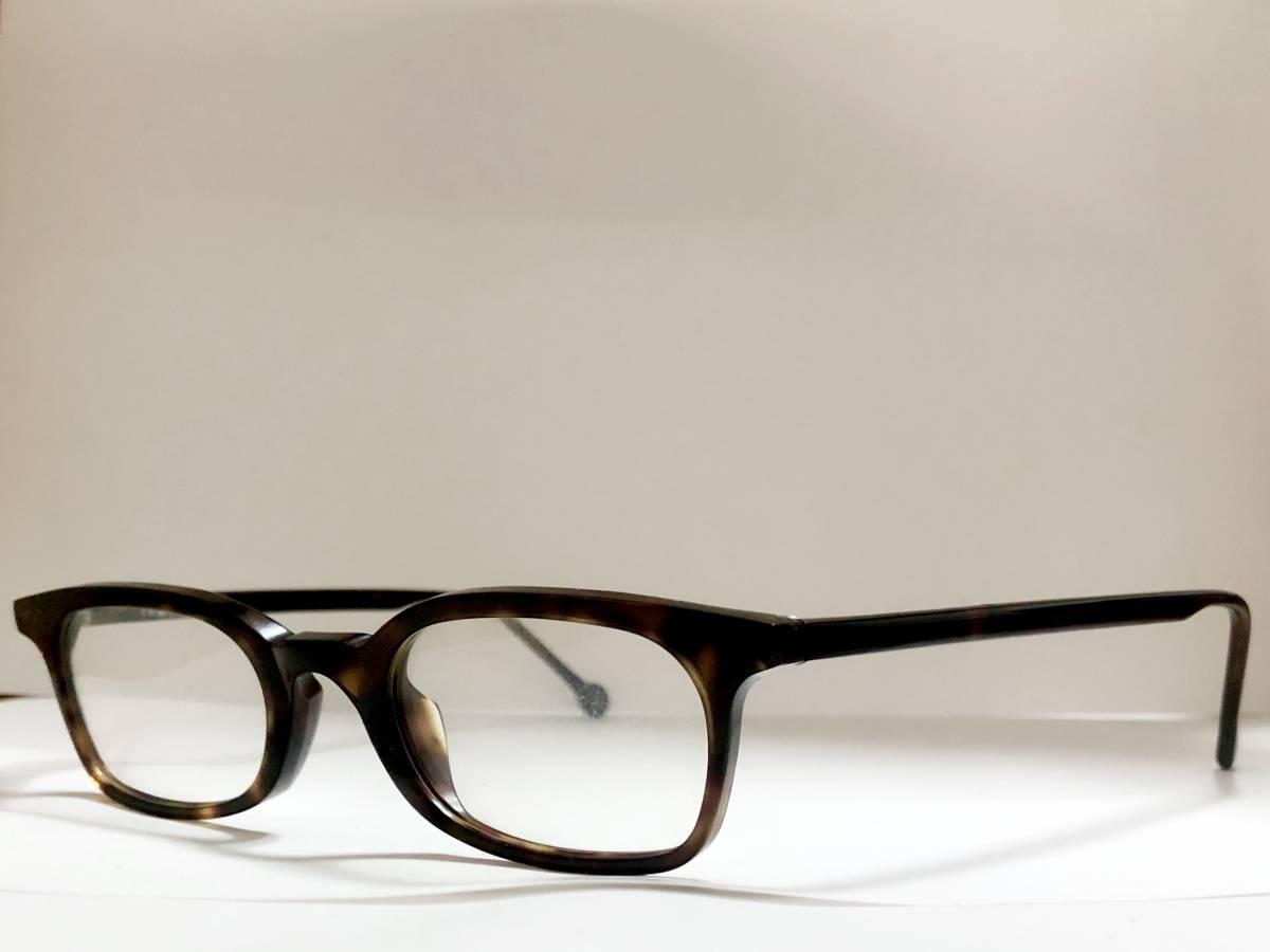 ビンテージ・未使用】1990年代 l.a. Eyeworks イタリア製 べっ甲色 高級メガネ エルエーアイワークス /ヴィンテージ 米国ブランド_画像4