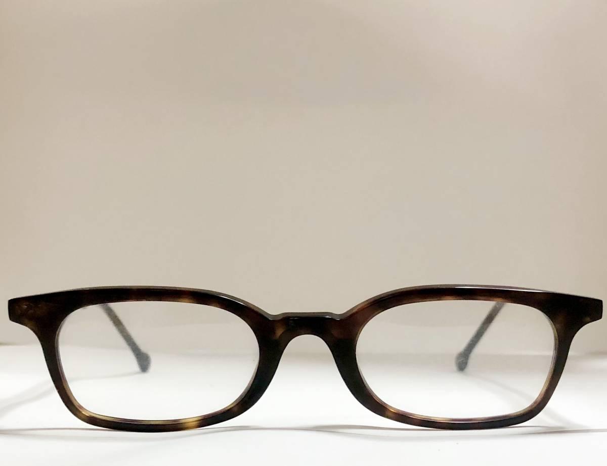 ビンテージ・未使用】1990年代 l.a. Eyeworks イタリア製 べっ甲色 高級メガネ エルエーアイワークス /ヴィンテージ 米国ブランド_画像2