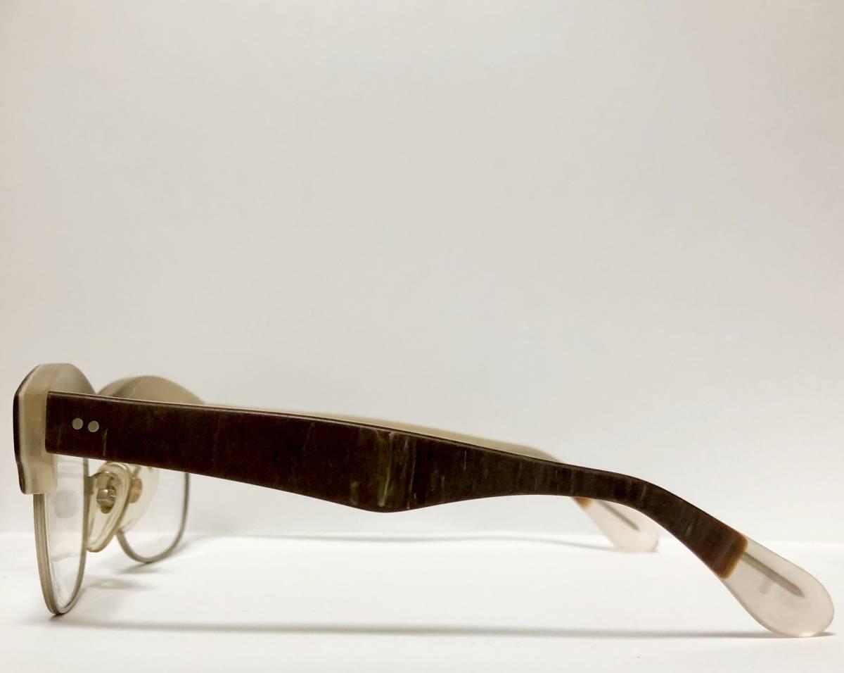 【ビンテージ・新品】1990年代 l.a. Eyeworks イタリア製 高級メガネ エルエーアイワークス ギガンター /ヴィンテージ 米国ブランド_画像4