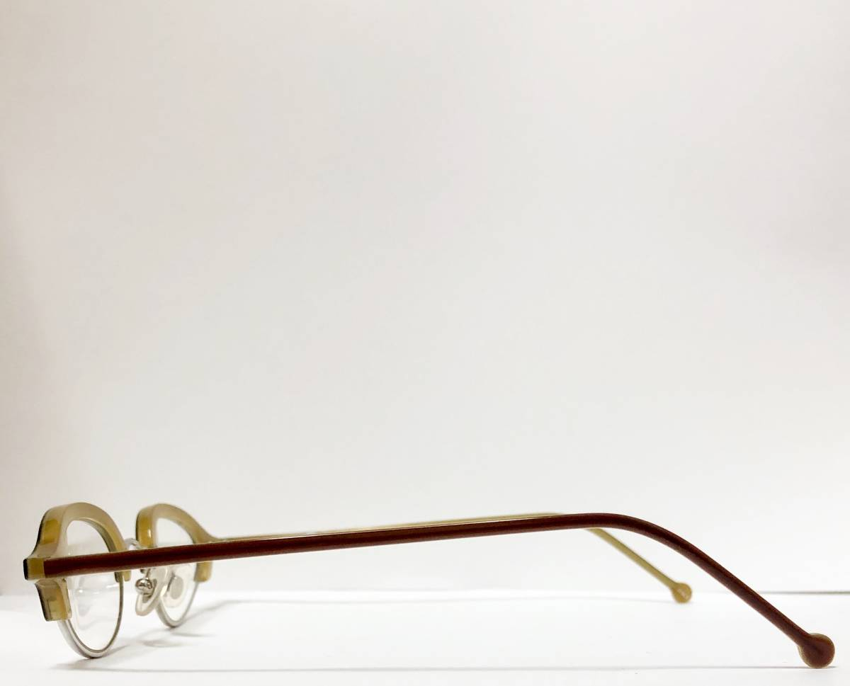 ビンテージ・新品】1990年代 l.a. Eyeworks イタリア製ティリー 茶色 高級メガネ エルエーアイワークス /ヴィンテージ 米国ブランド_画像4
