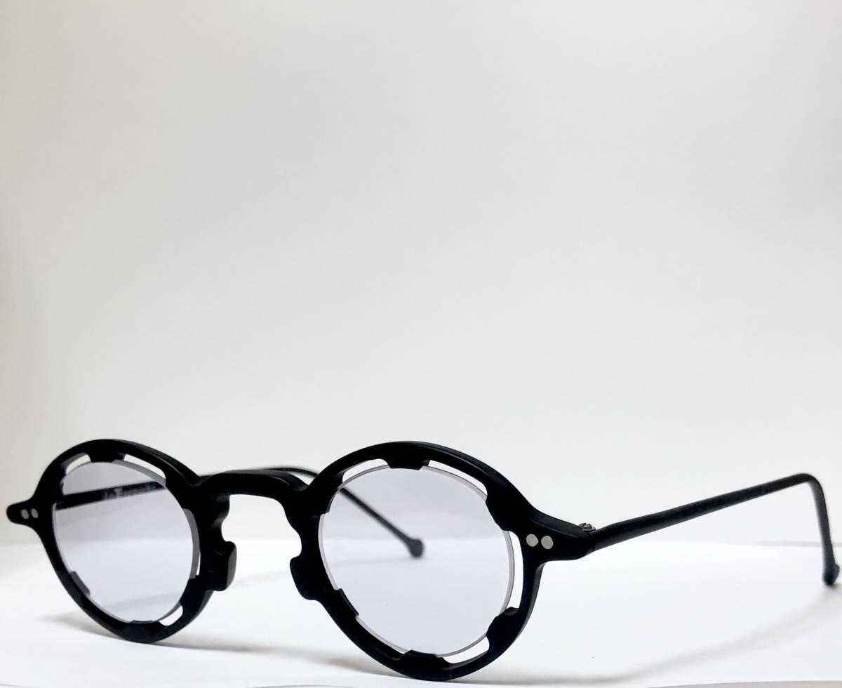 【ビンテージ・未使用】1990年代 l.a. Eyeworks イタリア製レグンバ 黒 高級メガネ エルエーアイワークス /ヴィンテージ 米国ブランド_画像3