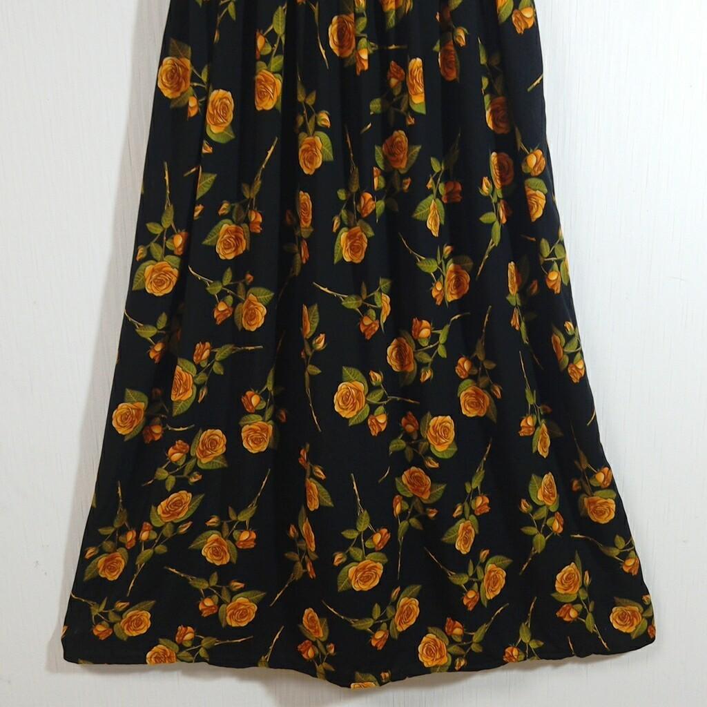 ワンピース ロング ワンピース  綺麗な花柄 ロングワンピース 71