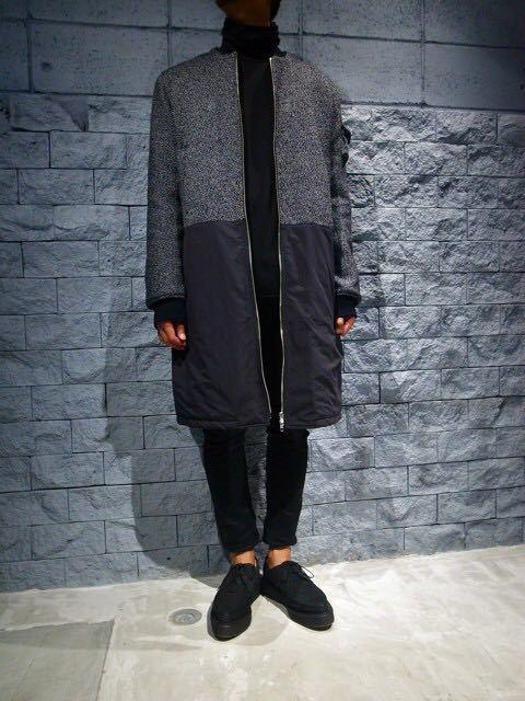 DRESSEDUNDRESSED MA-1 コート ロング丈ジャケット 切替_画像3