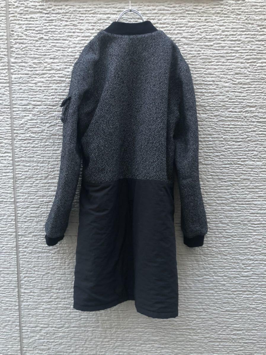 DRESSEDUNDRESSED MA-1 コート ロング丈ジャケット 切替_画像6