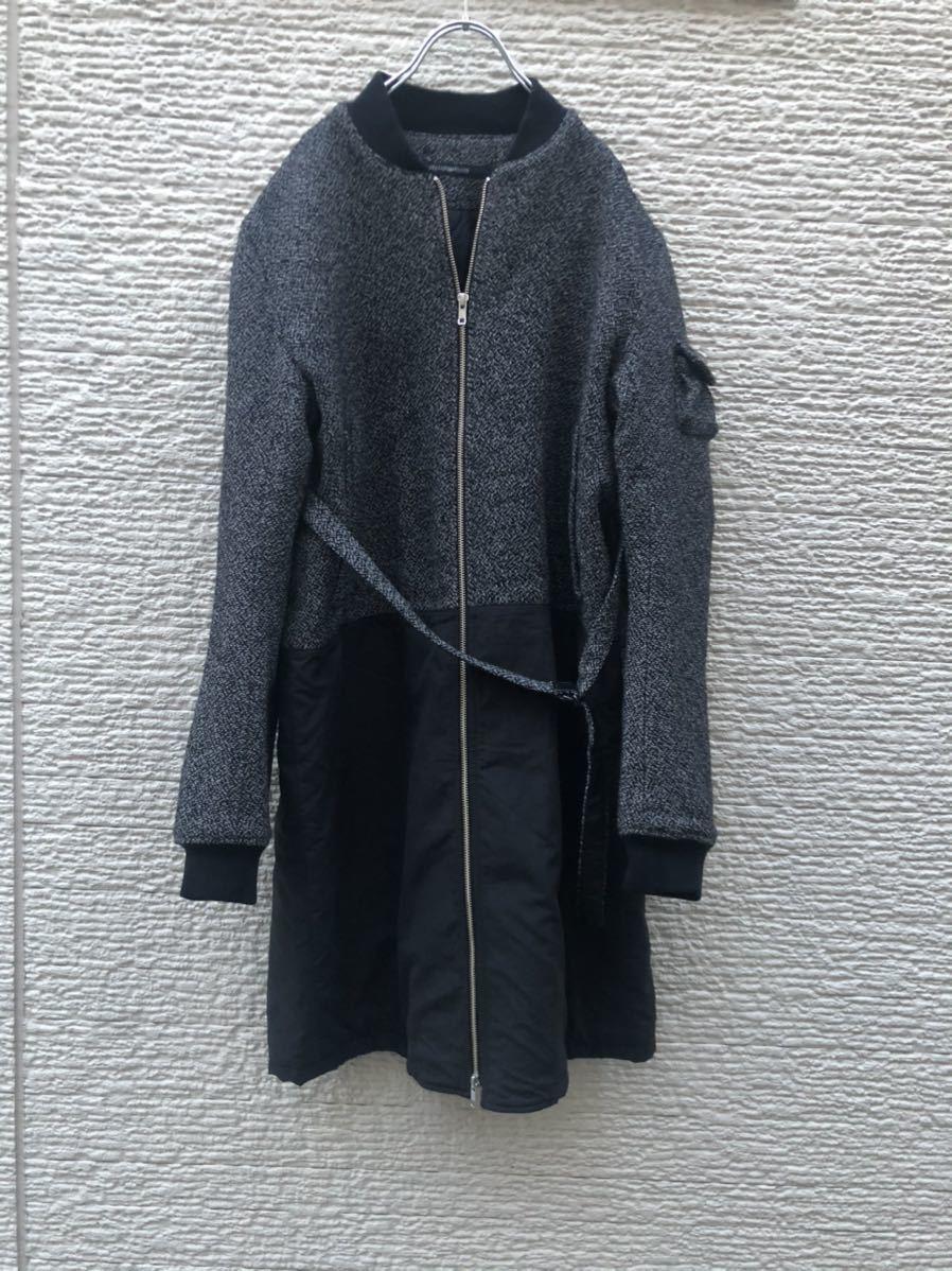 DRESSEDUNDRESSED MA-1 コート ロング丈ジャケット 切替_画像5