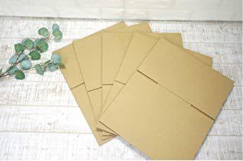 5枚 【 日本製 】 ダンボール (段ボール) 5枚セット 60 サイズ 引越し 梱包 収納 箱 (25×20&ti_画像3