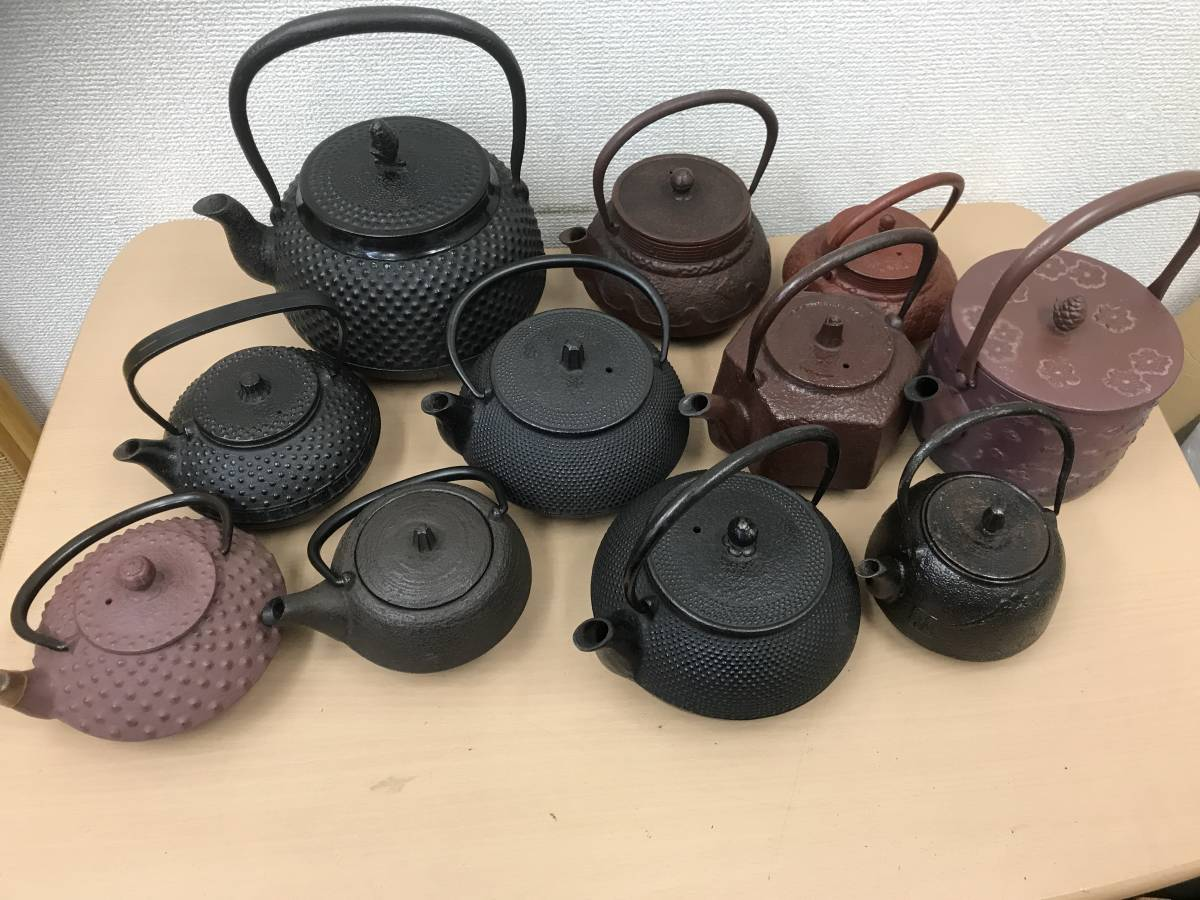 爆安 1円スタート 鉄瓶 急須 まとめ 南部鉄器 鋳物 茶器 鉄器 工芸品 選茶道具 中古