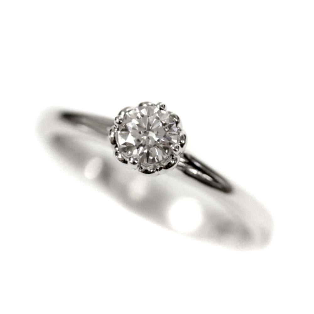 即決 フォーエバーマーク リング・指輪 レディース K18ゴールド ダイヤモンド ジュエリー 11.5号 ホワイトゴールド_画像1
