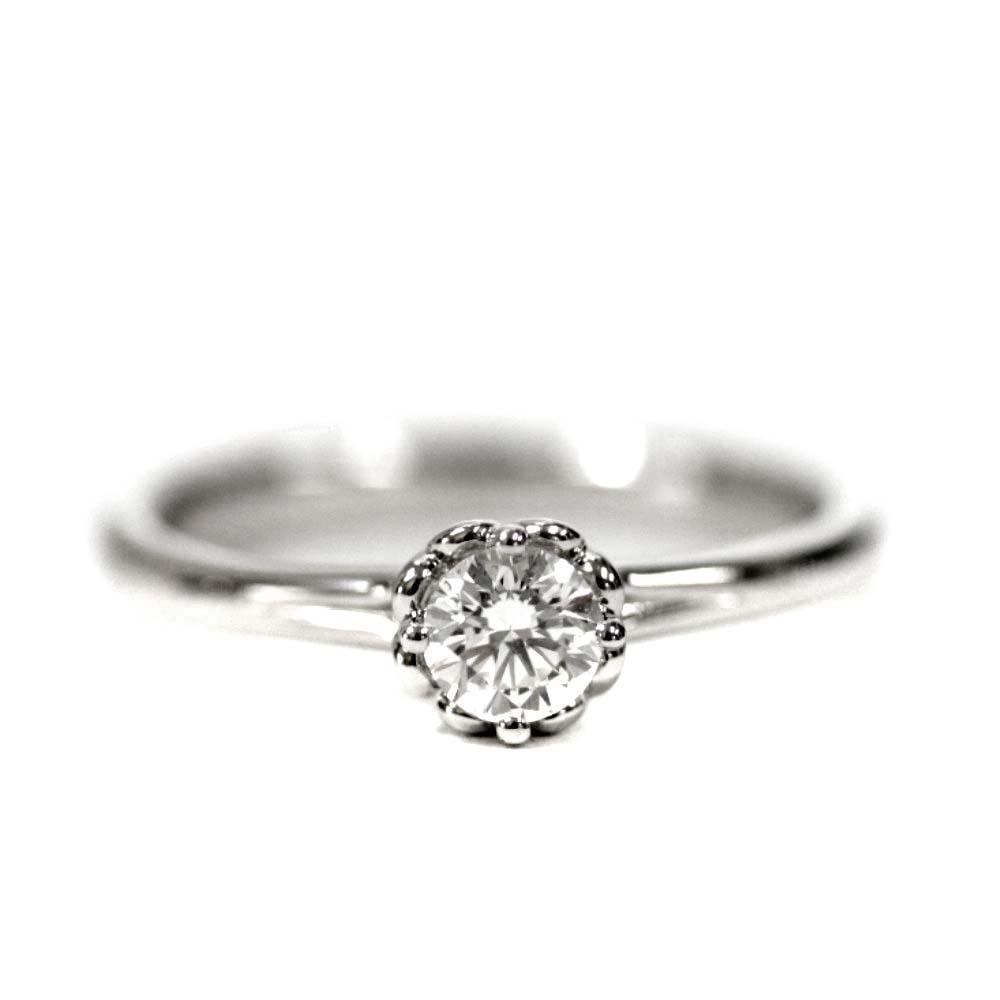 即決 フォーエバーマーク リング・指輪 レディース K18ゴールド ダイヤモンド ジュエリー 11.5号 ホワイトゴールド_画像4