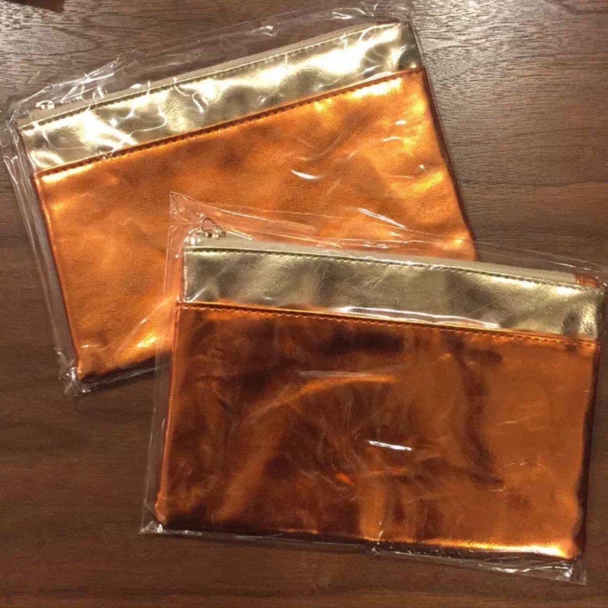 ポーチ / オレンジ ゴールド メタリック 金色 ドクターシーラボ 小物入れ