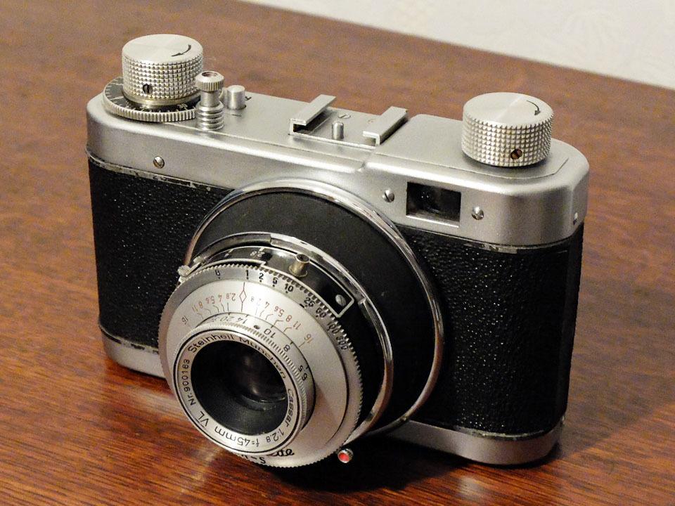 【珍品/ジャンク扱い】フォス ディアクセッテ〈カッサー45mm f2.8搭載〉 : W.Voss Diaxette〈with Cassar45mm f2.8〉_画像1