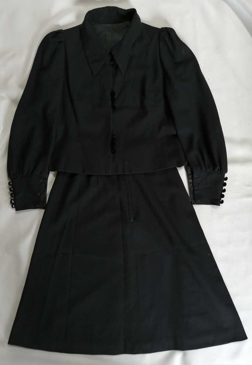 テーラードジャケット スカート レディース 黒