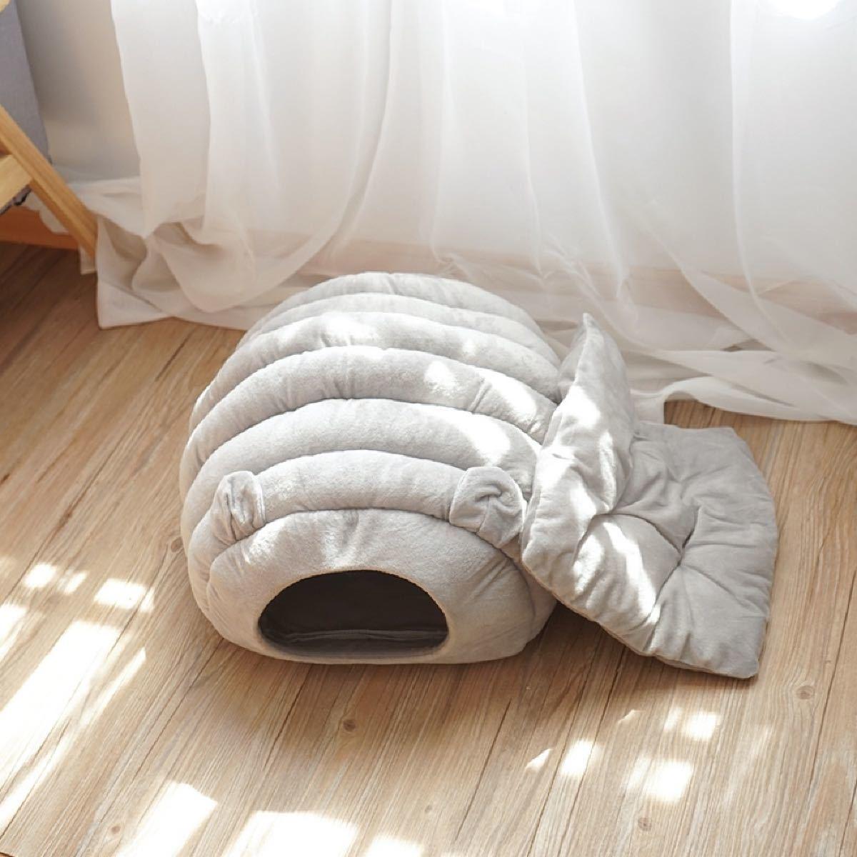 ペットハウス冬 猫用ベッド 猫 ドーム型 ベッド 犬小屋クッション付き水洗え
