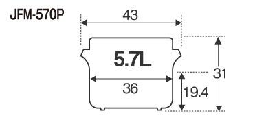 ★新品 保温ジャー タイガー JFM-570P 業務用ステンレスジャー 3升2合 5.7L 断熱材使用タイプ 店舗●送料込_画像2