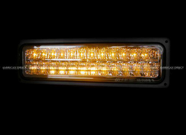 【クローム/LED】96-02y エクスプレス サバナ クリスタル パークシグナル ウインカー 左右セット G-VAN シボレー GMC_画像3
