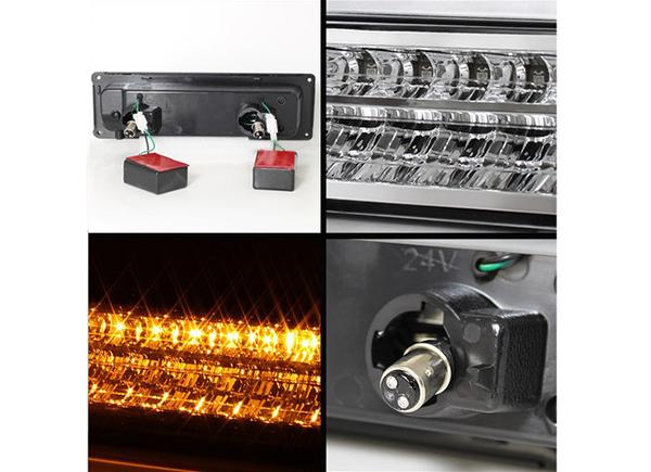 【クローム/LED】96-02y エクスプレス サバナ クリスタル パークシグナル ウインカー 左右セット G-VAN シボレー GMC_画像4
