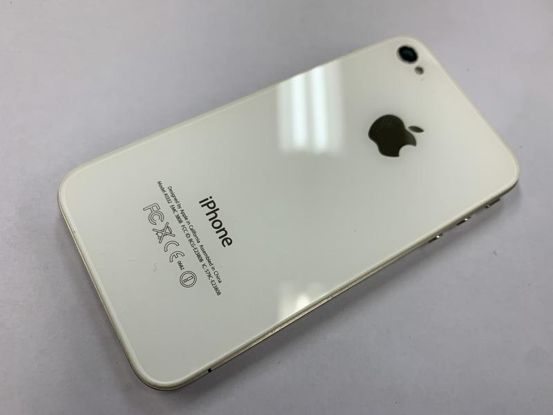 v478 Softbank iPhone4 ホワイト 16GB AロックON 判定○ ジャンク_画像2