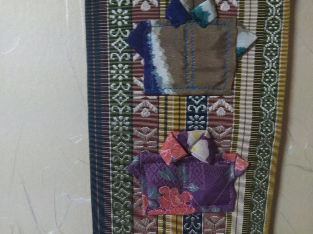 タペストリー、手作り、壁掛け、帯地_拡大