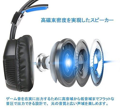 【新品未使用】 ゲーミングヘッドセット KINGTOP ヘッドホン K11シリーズ 3.5mm コネクタ 高集音性マイク付 マイク位置360度調整可能_画像2