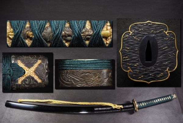 刀拵 刀装具 太刀鍔 鍔 縁頭 / 日本刀 刀剣 武具 刀