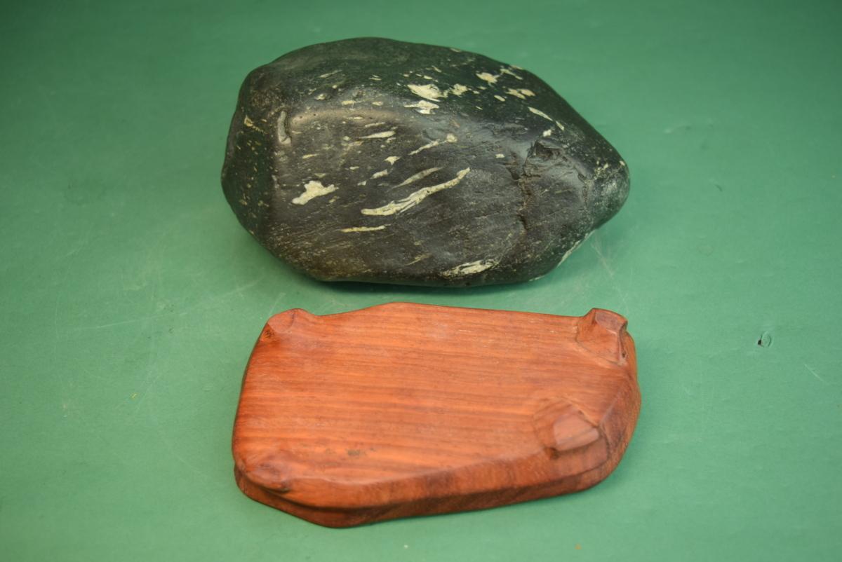 利根川石 (盆景 水石 鑑賞石 飾り石)ID5071_画像9