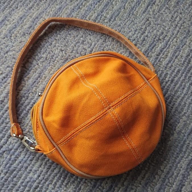ミニポーチ  ミニバッグ オレンジ