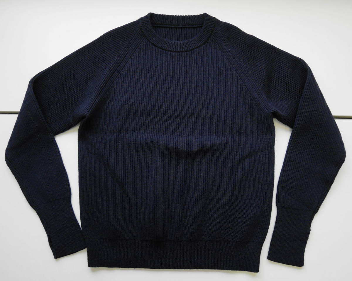 SOPH. USED FINGER HOLE RIBBED CREW NECK KNIT L