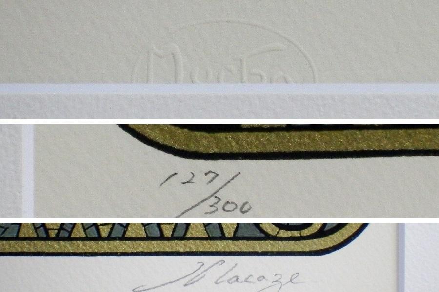 #アルフォンス・ミュシャ#JOB# 真作保証 ed-127/300 ミッシャ財団エンボス加工 摺師サイン 挿し箱付属 アール・ヌーヴォーの旗手_画像3