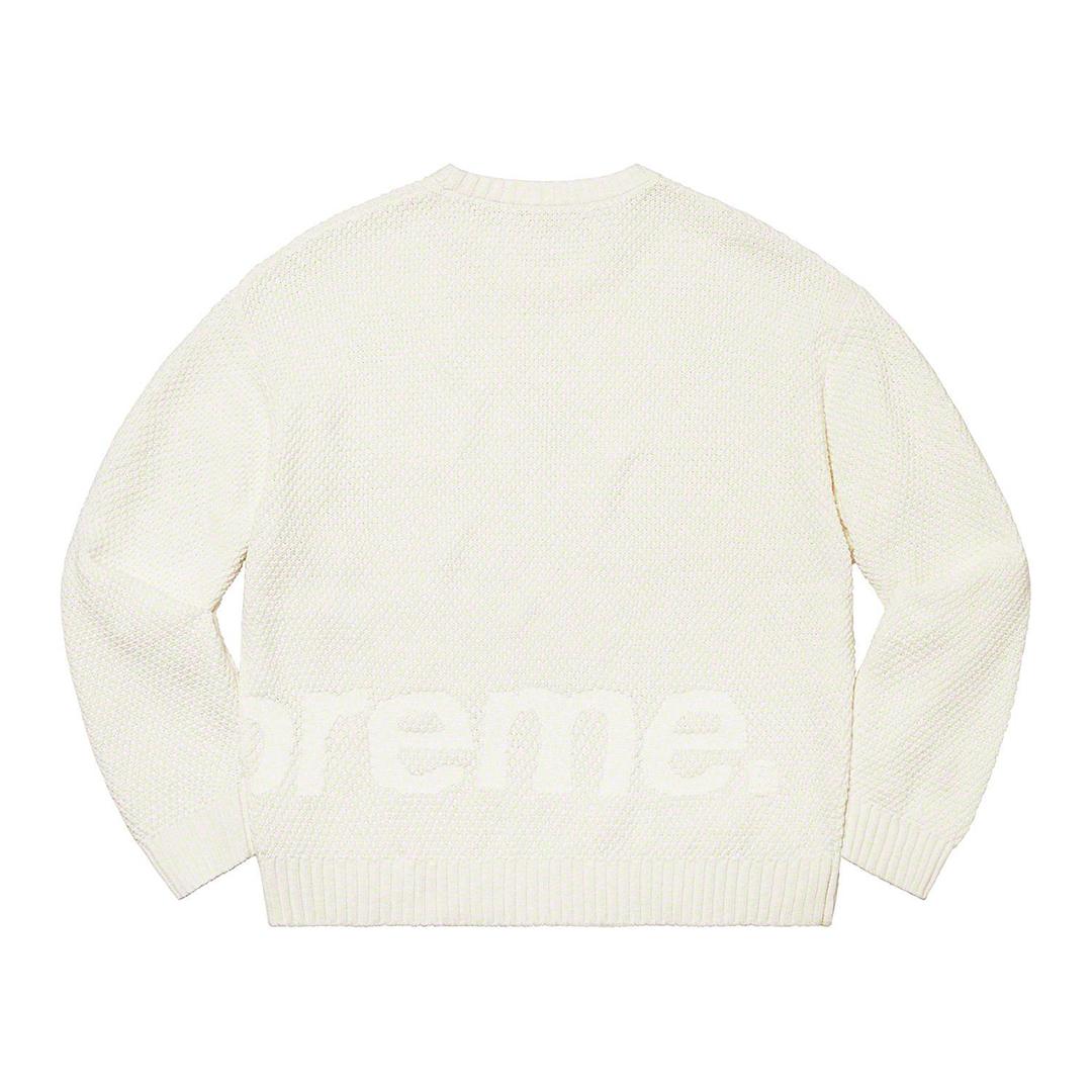1317 Supreme Textured Small Box Sweater White XL/シュプリーム テクスチャード スモール ボックス セーター 白 XL 2020FW_画像3