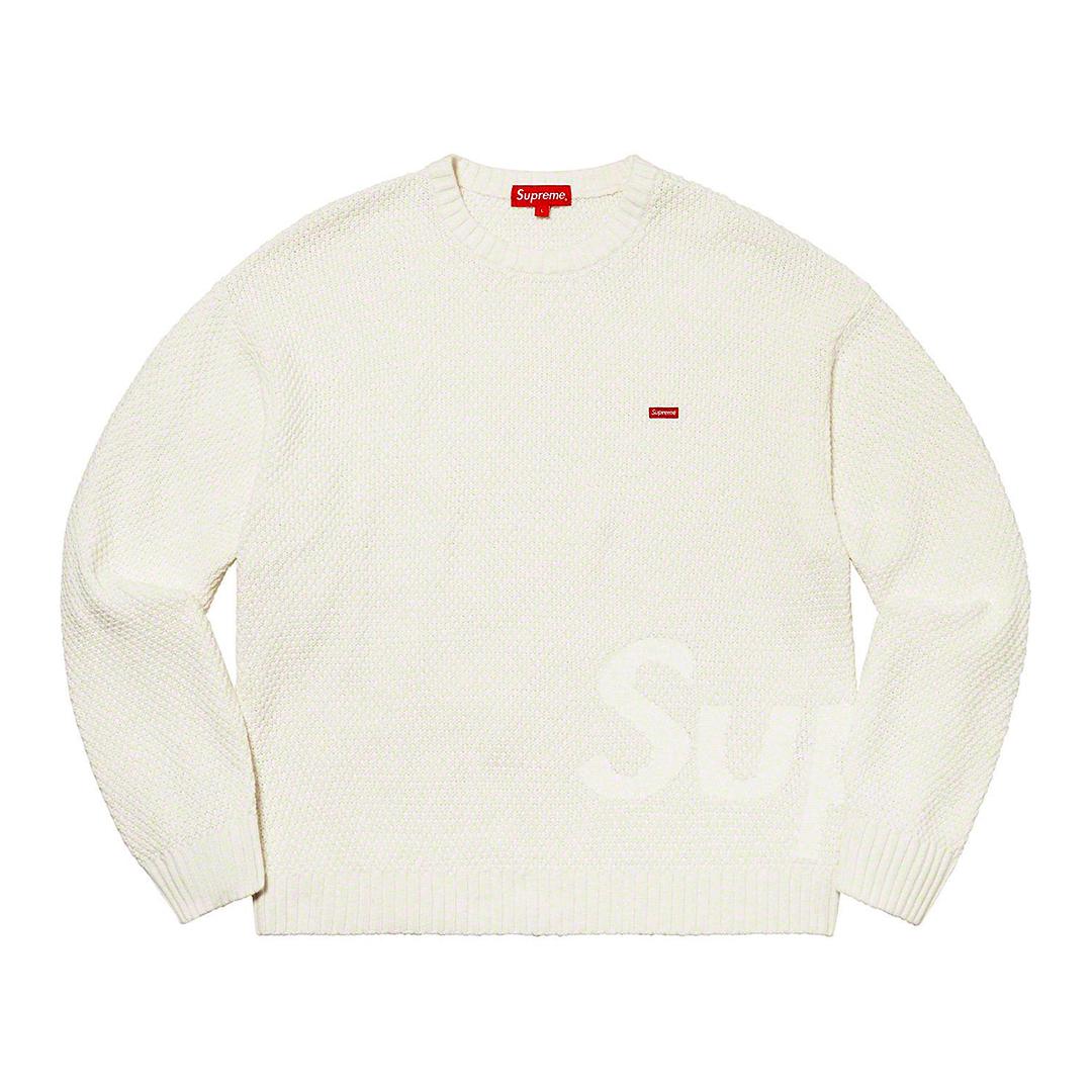 1317 Supreme Textured Small Box Sweater White XL/シュプリーム テクスチャード スモール ボックス セーター 白 XL 2020FW_画像2