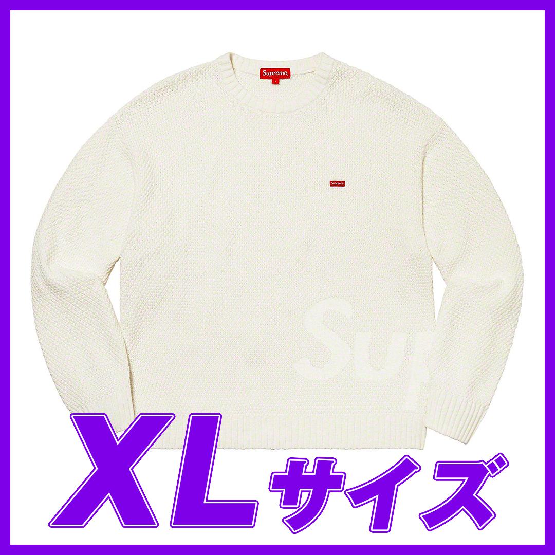 1317 Supreme Textured Small Box Sweater White XL/シュプリーム テクスチャード スモール ボックス セーター 白 XL 2020FW_画像1
