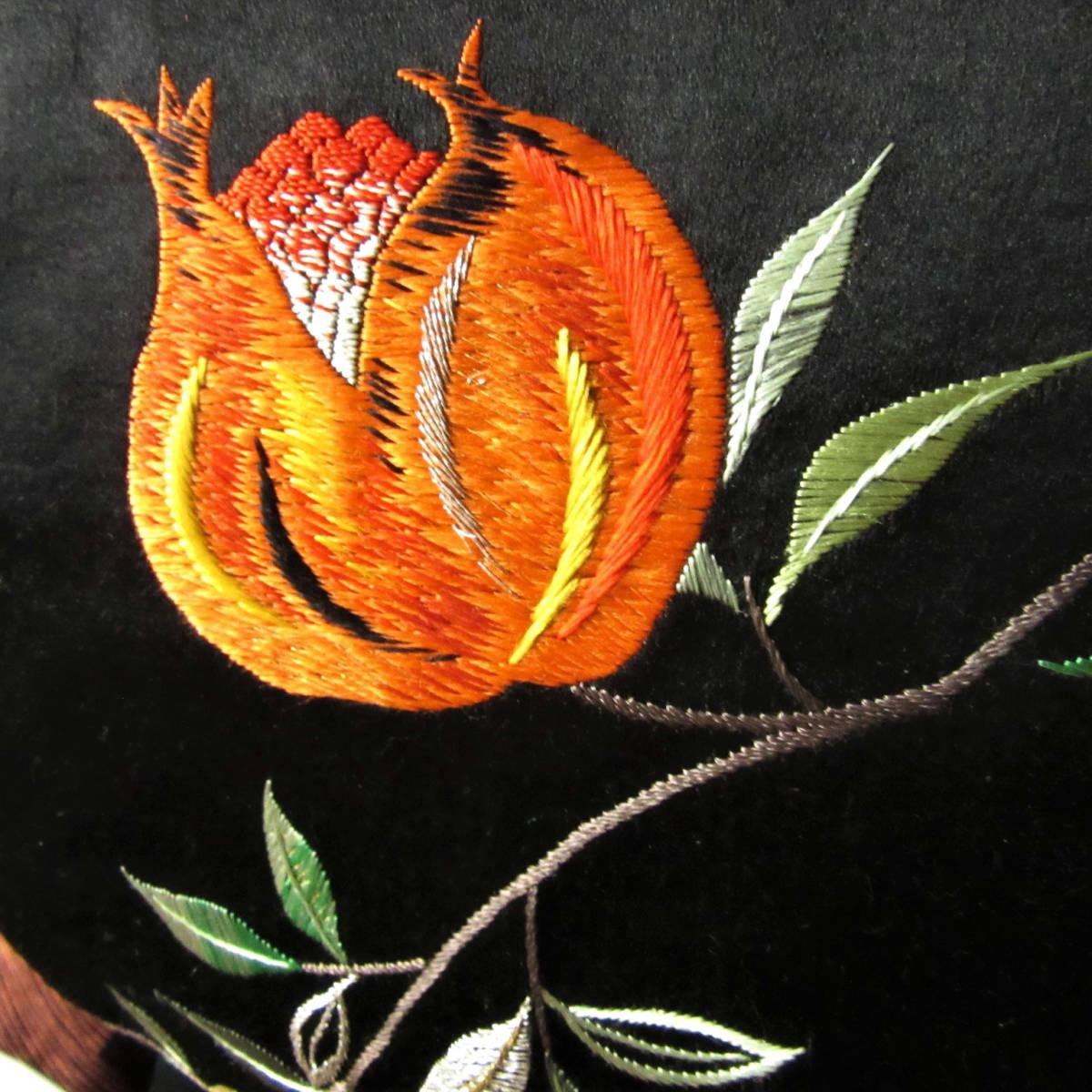 ☆柘榴の日本刺繍 アンティーク名古屋帯 着物 大正ロマン レトロ ザクロ_画像10