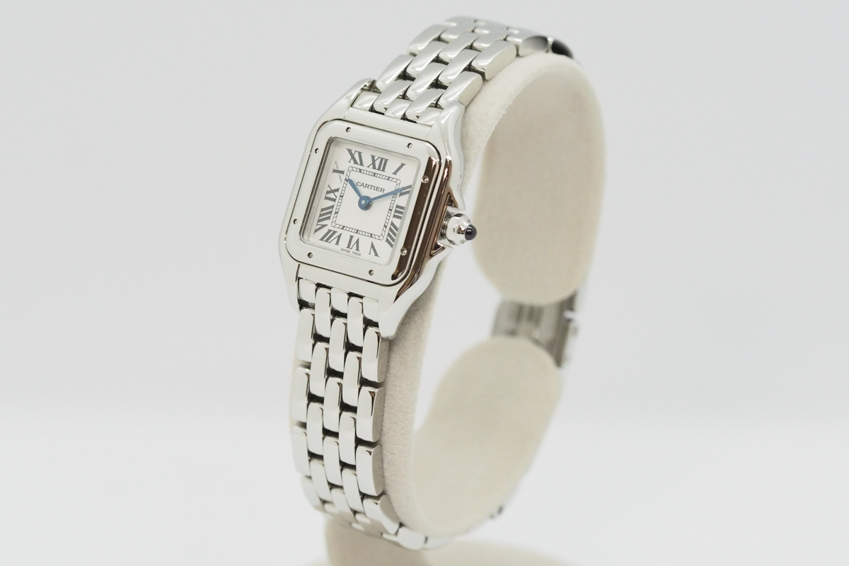 Cartier/カルティエ パンテール ドゥ カルティエ SM WSPN0006 白文字盤 ローマインデックス レディース SS クォーツ 腕時計_画像3