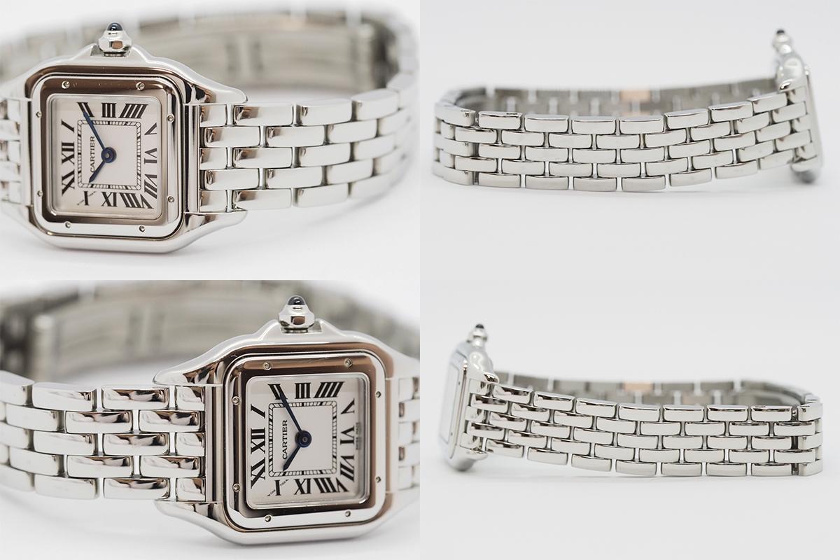 Cartier/カルティエ パンテール ドゥ カルティエ SM WSPN0006 白文字盤 ローマインデックス レディース SS クォーツ 腕時計_画像7