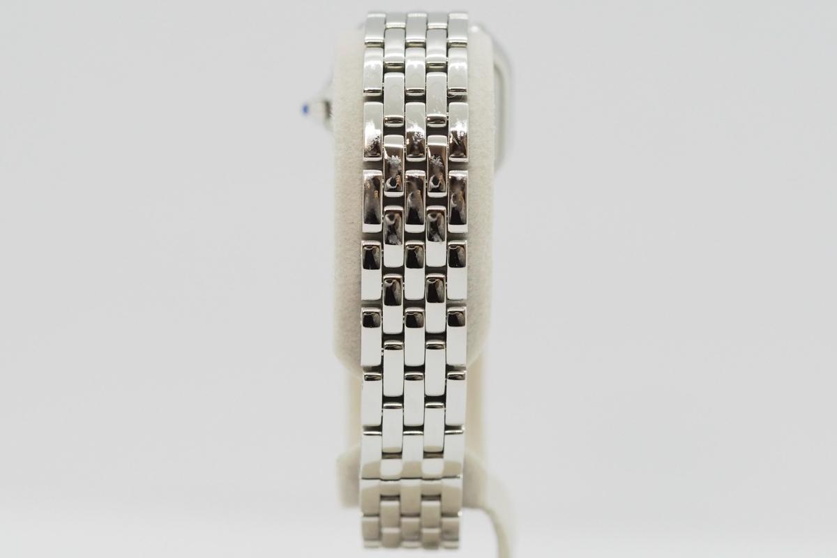 Cartier/カルティエ パンテール ドゥ カルティエ SM WSPN0006 白文字盤 ローマインデックス レディース SS クォーツ 腕時計_画像6