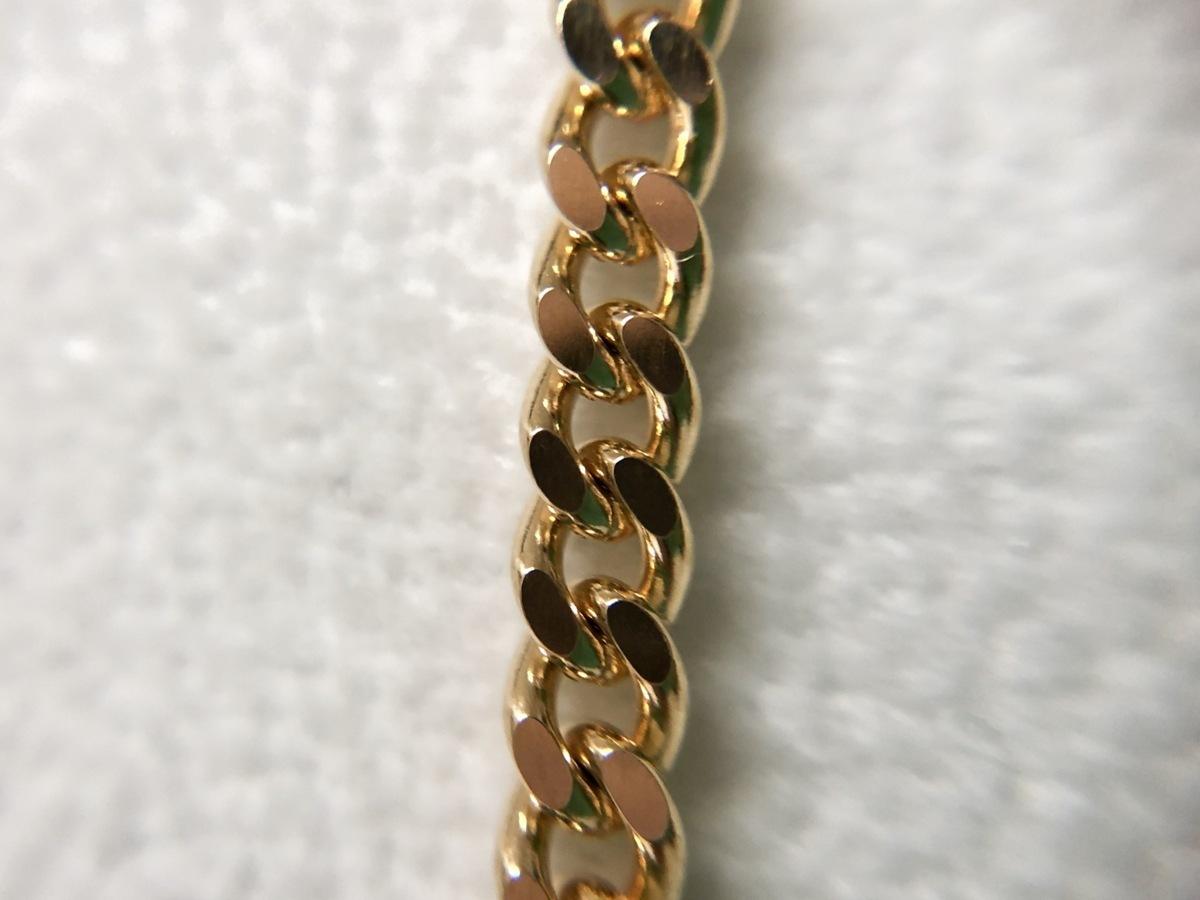 K18 喜平2面カット シングル ゴールドネックレス 50cm 20.2g_画像5